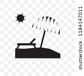 sunbed vector icon isolated on... | Shutterstock .eps vector #1184147011