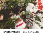 christmas tree. new year's toys.... | Shutterstock . vector #1184149681