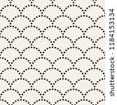 seamless pattern with dotted...   Shutterstock .eps vector #1184153134