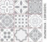 vector tiles design  azulejo... | Shutterstock .eps vector #1184160241