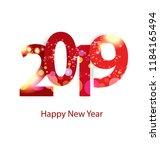 happy new year 2019 | Shutterstock .eps vector #1184165494