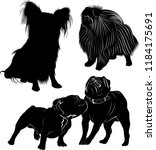 set of dog silhouettes ... | Shutterstock .eps vector #1184175691