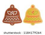 traditional xmas cookies... | Shutterstock . vector #1184179264