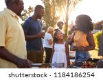 parents and daughter at a multi ... | Shutterstock . vector #1184186254