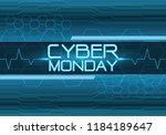 cyber monday blue digital... | Shutterstock .eps vector #1184189647