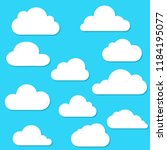 clouds flat style collection. | Shutterstock .eps vector #1184195077