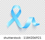 realistic blue ribbon over... | Shutterstock .eps vector #1184206921