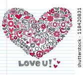 heart love vector  back to... | Shutterstock .eps vector #118420831