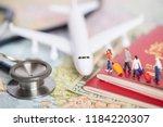 miniature passenger concept of...   Shutterstock . vector #1184220307