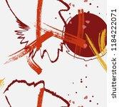 contrast red grey yellow grunge ... | Shutterstock .eps vector #1184222071