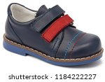 blue toddler leather boots | Shutterstock . vector #1184222227