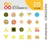 celtic ornament icon set.... | Shutterstock .eps vector #1184223541