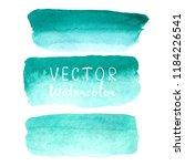 set of watercolor brush on... | Shutterstock .eps vector #1184226541