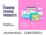 feminine hygiene natural... | Shutterstock .eps vector #1184230021