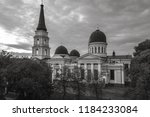 the transfiguration cathedral... | Shutterstock . vector #1184233084