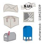 mail related art work | Shutterstock .eps vector #118423339