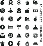 solid black flat icon set... | Shutterstock .eps vector #1184234401