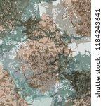 vintage damask ornament ribbed... | Shutterstock .eps vector #1184243641