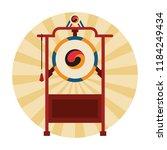 asian gong instrument | Shutterstock .eps vector #1184249434