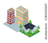house and residence buildings...   Shutterstock .eps vector #1184252047