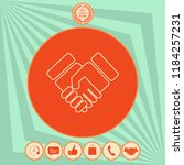 handshake symbol icon | Shutterstock .eps vector #1184257231