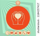 hands holding heart  ... | Shutterstock .eps vector #1184257417