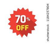 70  label discount | Shutterstock .eps vector #1184257804