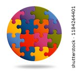 Jigsaw Puzzle Background With...