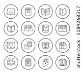 set round line icons of book | Shutterstock .eps vector #1184268517