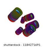 3d geometric color figures ...   Shutterstock . vector #1184271691