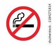 no smoking area sign . vector... | Shutterstock .eps vector #1184271814