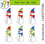 find two the same pictures ... | Shutterstock .eps vector #1184279284
