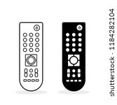 remote control. flat icon. two... | Shutterstock .eps vector #1184282104