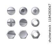 vector head of screws  bolts... | Shutterstock .eps vector #1184283067