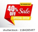 sale banner 40  off | Shutterstock .eps vector #1184285497