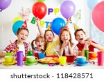 Group Of Adorable Kids Having...