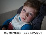 ailing sad little boy with... | Shutterstock . vector #1184292904