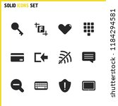 interface icons set with zoom...