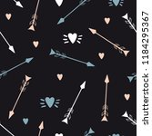 hand drawn arrows and hearts.... | Shutterstock .eps vector #1184295367