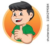 illustration depicts a child... | Shutterstock .eps vector #1184299084