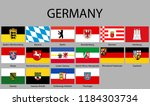 all flags states of germany.... | Shutterstock .eps vector #1184303734