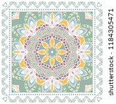 decorative colorful ornament on ... | Shutterstock .eps vector #1184305471
