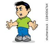 illustration mascot dany  low... | Shutterstock .eps vector #1184306764