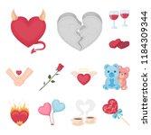 romantic relationship cartoon... | Shutterstock .eps vector #1184309344