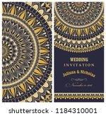 wedding invitation cards... | Shutterstock .eps vector #1184310001