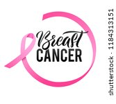 breast cancer awareness... | Shutterstock .eps vector #1184313151