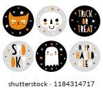 funny hand drawn halloween... | Shutterstock .eps vector #1184314717