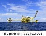 offshore oil and gas rig...   Shutterstock . vector #1184316031