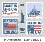 collection of made in the usa... | Shutterstock .eps vector #1184318371