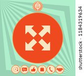 extend  resize icon. cross... | Shutterstock .eps vector #1184319634